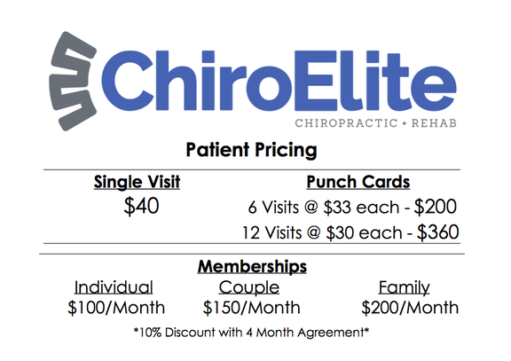 chiropractic cost, how much is a chiropractic adjustment, best prices for chiropractic care